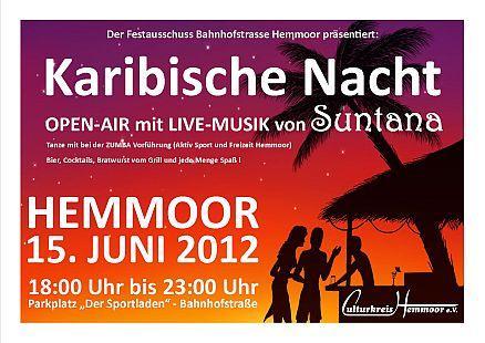 Karibische Nacht - Open-Air - Live Musik - Suntana - Hemmoor
