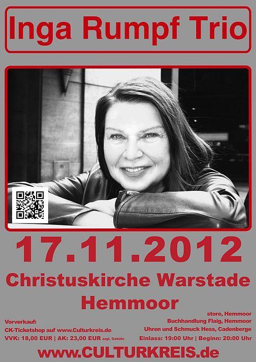 öfter Inga Rumpf Trio @ Christuskirche zu Warstade Hemmoor