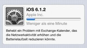 öfter iOS-612-Update-Prozess