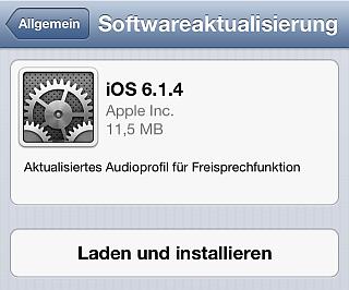 öfter Apple - Sicherheitsupdate 6.1.4 - iOS
