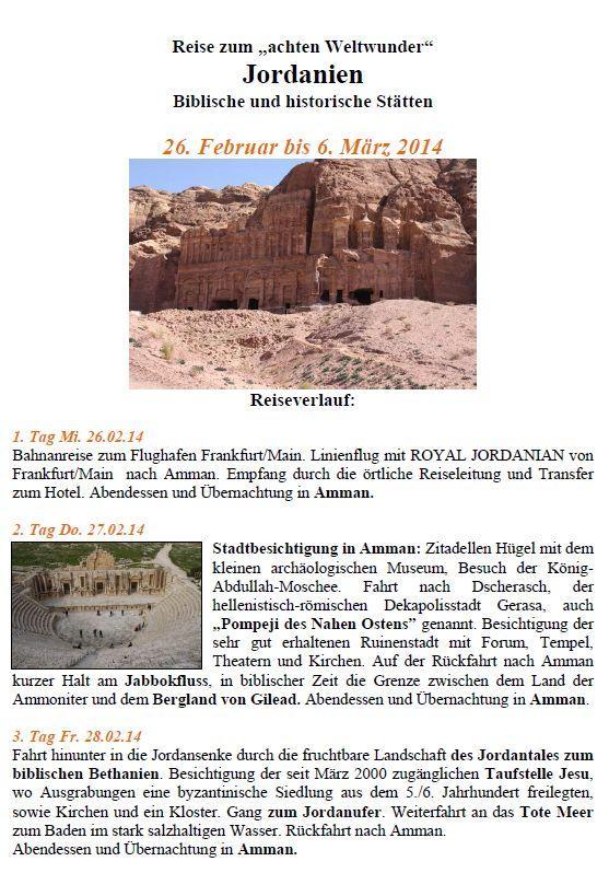 öfter Jordanien - Reise - Teil1 - Culturkreis Hemmoor e. V. - Christusgemeinde Warstade