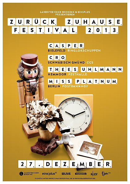 2013 Zurück Zuhause Festival - Flyer - Thees Uhlmann - Festhalle Hemmoor