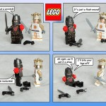 öfter inoffizielle Monty Python Lego-Sets - The Black Knight Comic