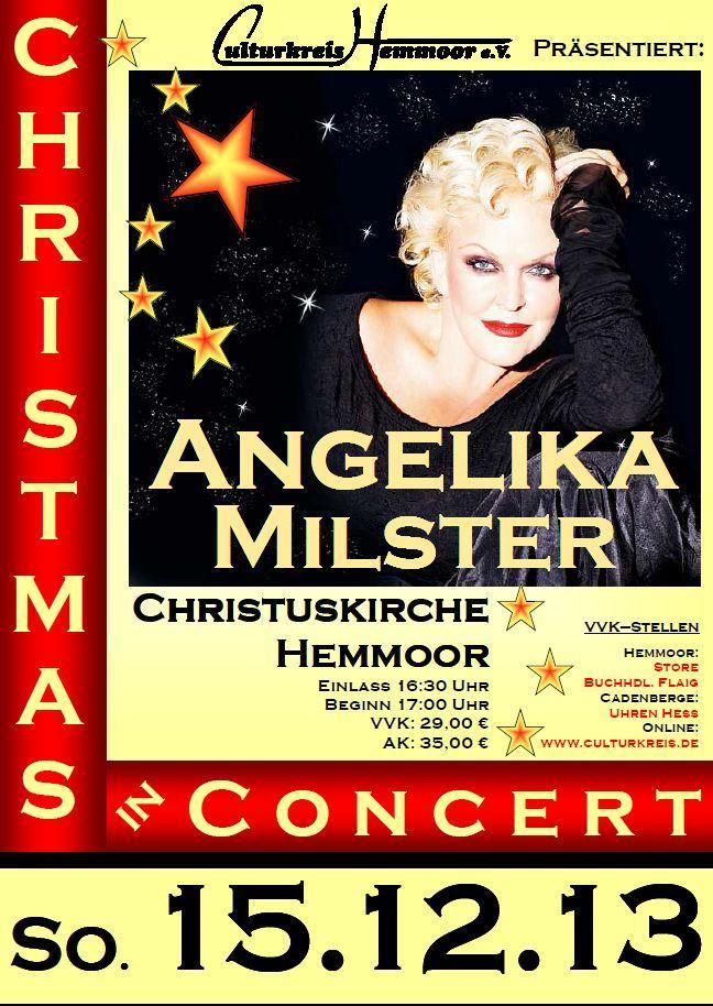 öfter Angelika Milster - Christmas in Concert - Christuskirche - Culturkreis Hemmoor e.V.