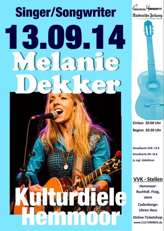 öfter Melanie Dekker - Kulturdiele Hemmoor - Culturkreis Hemmoor e. V.