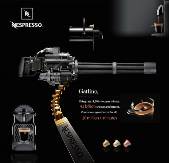 öfter The Gatlino - Nespresso Gatling Gun