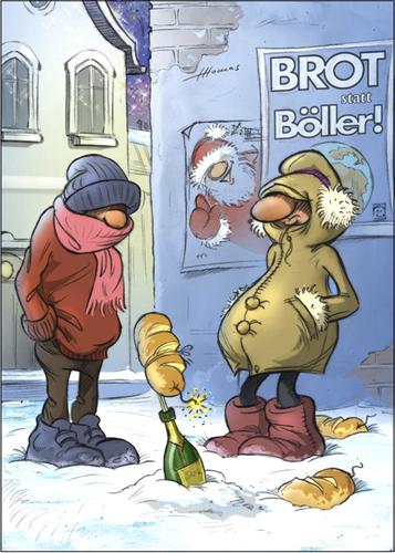 öfter Brot statt Böller - Quelle: toonpool.com