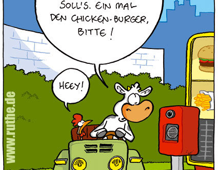 öfter Comic Ruthe Chickenburger Drive-In
