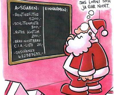 Weihnachtsmann Ausgaben Einnahmen